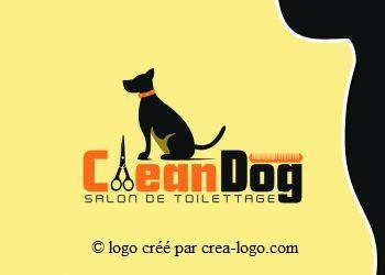 Cette image représente le logo d un salon de toilettage proposition 1