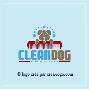 Cette image représente le logo d un salon de toilettage proposition 2