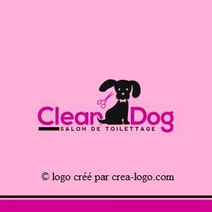 Cette image représente le logo d un salon de toilettage proposition 3
