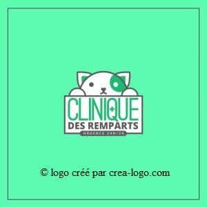 Cette image représente le logo d une clinique veterinaire proposition 2
