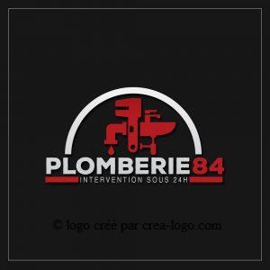Cette image représente le logo d un plombier proposition 2
